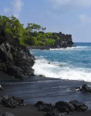 Black Sand Beach Ilima Loomis Hawaii